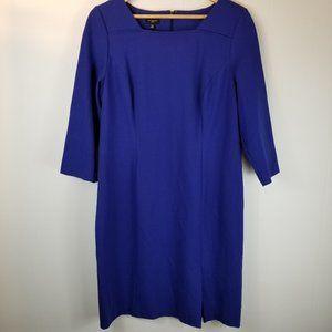 Talbots Royal Blue 3/4 Sleeve Dress
